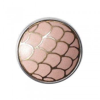 Noosa Chunk NIVKH -pink/ gold- powderstone- brass