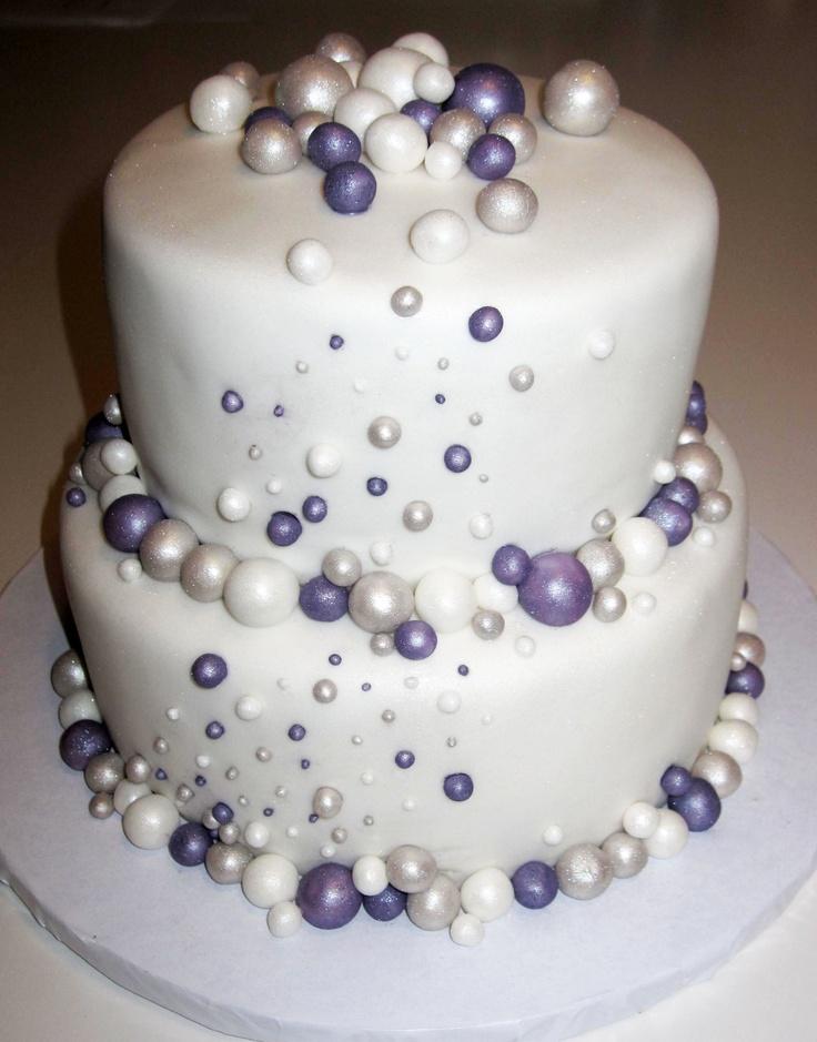 Sparkly 2 Tier Wedding Cake Pasteles Pinterest