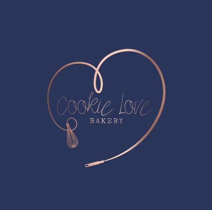 Premade logo, logo design, watermark, baking, rose gold, bakery logo, cookie logo. cake logo, branding, whisk, mix, heart