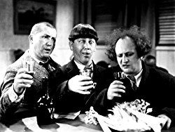 A collection of photographs of the Three Stooges – Moe Howard, Larry Fine, Curly Howard, Shemp Howard, Joe Besser, and Curly Joe DeRita.