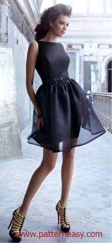 Выкройка платья к выпускному: http://patterneasy.com/zametki/vykroyka-platya-k-vypusknomu | Выкройки онлайн и уроки моделирования