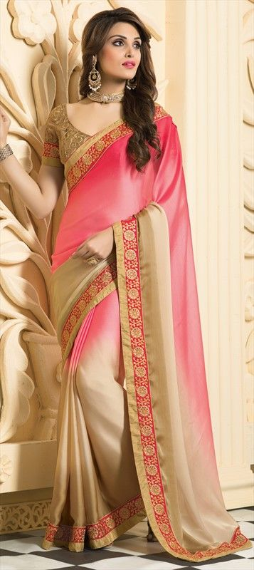 CLOSE TO EARTH with these #EarthenTones. Shop such beautiful cocktail #saree.  #Partywear #Women #ss15