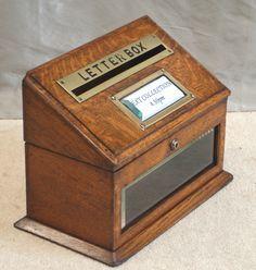 Image result for vintage oak letterbox
