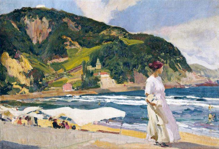 Joaquín Sorolla y Bastida (1863-1923). Maria on the Beach, Zarauz, 1910. 25.2 x 36.22 (64 x 92 cm)