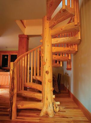 Staircase Spiral on The Classic The Stairmeister Signature Spiral Stair Features A Log