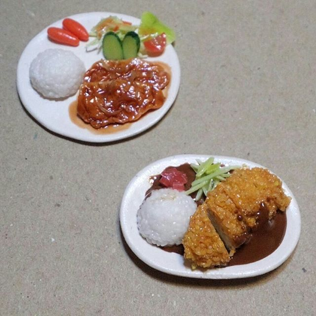 Miniature Hamburger Curry and Chicken Cutlet Curry
