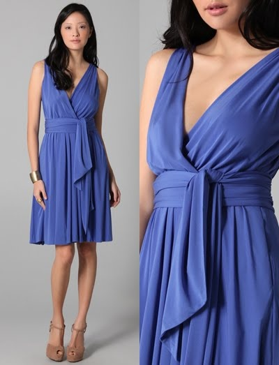 my favorite color - wrap dresses are always flattering