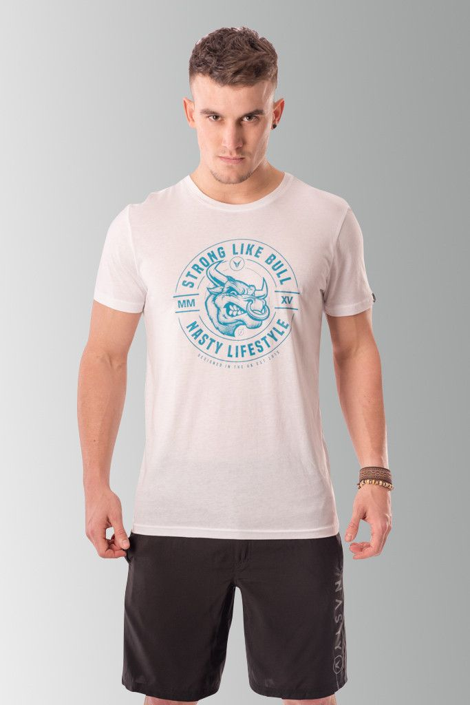 Fitted Bull T-Shirt by Nasty Lifestyle.  Get yours today!  CrossFit Apparel, Gym Apparel, Fitness Apparel, Mens Lifestyle,