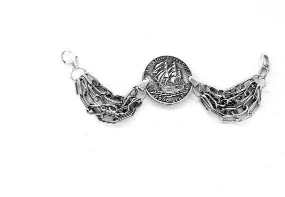AMERIGO VESPUCCI OOAK Bracelet. Sterling silver di Cuorerosso, €350.00