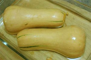 Butternut squash can be cooked WHOLE in the microwave in 10 minutes! How did I never know this?!