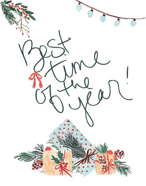 Best Time of the Year - Lettered Print