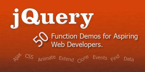 50 demos de funcions útils en jQuery | Les llibreries de javascript com jQuery ens fan ser més productius. Aquí trobareu exemples per iniciar-vos o per repassar les funcions més conegudes de jQuery.