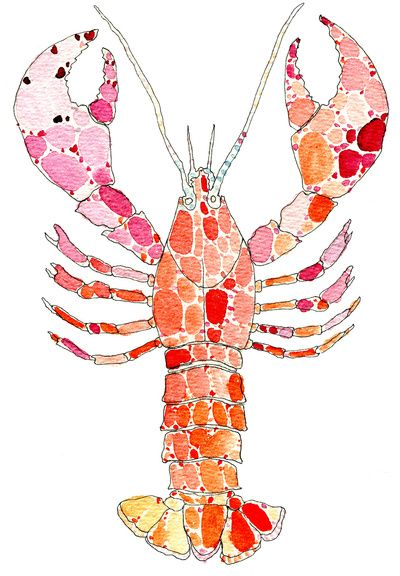 Lobster Art Print...why am I so drawn to lobster art??
