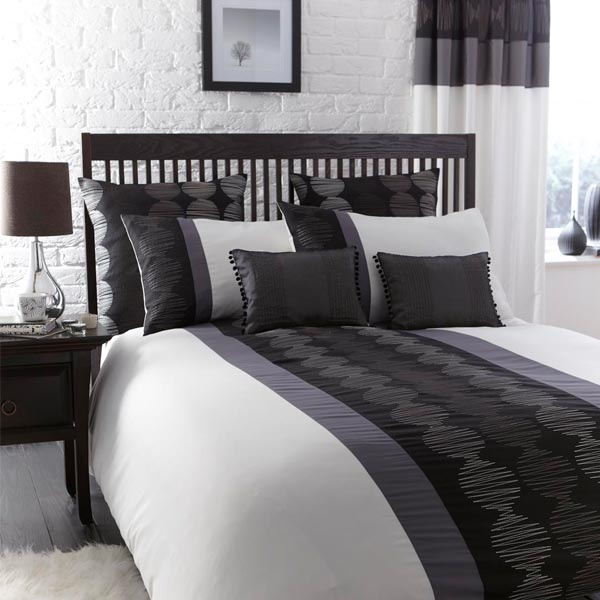 A Simple And Sophisticated Addition To Your Bedroom   The Orbit Print Panel Duvet  Cover Set