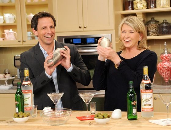 Yes, Martha Stewart told Seth Meyers his date should pay for dinner but HE should get a really great gift. Go Martha!