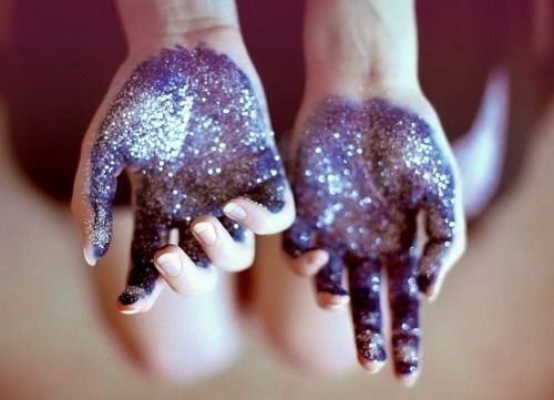Glitter: pretty much how my hands look after this yes ahahah
