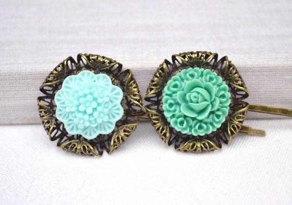 Mother day green mint flowersresin flower by artemisartdesign, $10.00