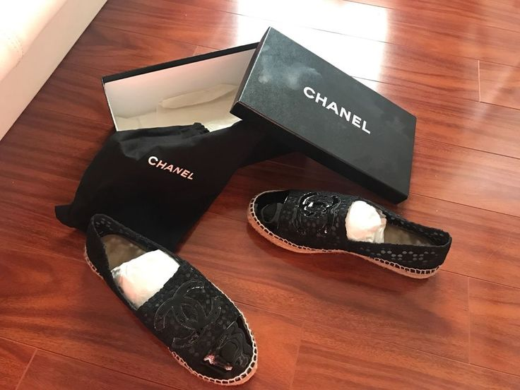 Chanel Espadrilles For Sale!! Authentic Chanel!! Black Patent Leather and Lace!  #CHANEL #Espadrilles