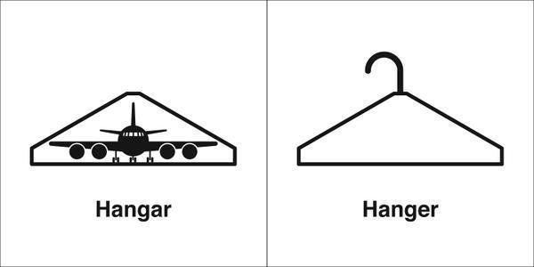 "You'll never confuse ""hangar"" and ""hanger"" again!"