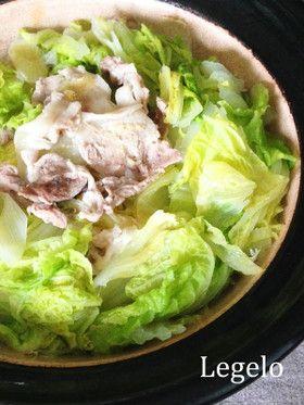 味付けなし超シンプル♪白菜豚肉しょうが鍋|豚薄切り肉・白菜・白ネギ・しょうが・酒