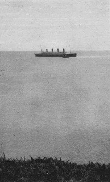 Last known photo of Titanic afloat.