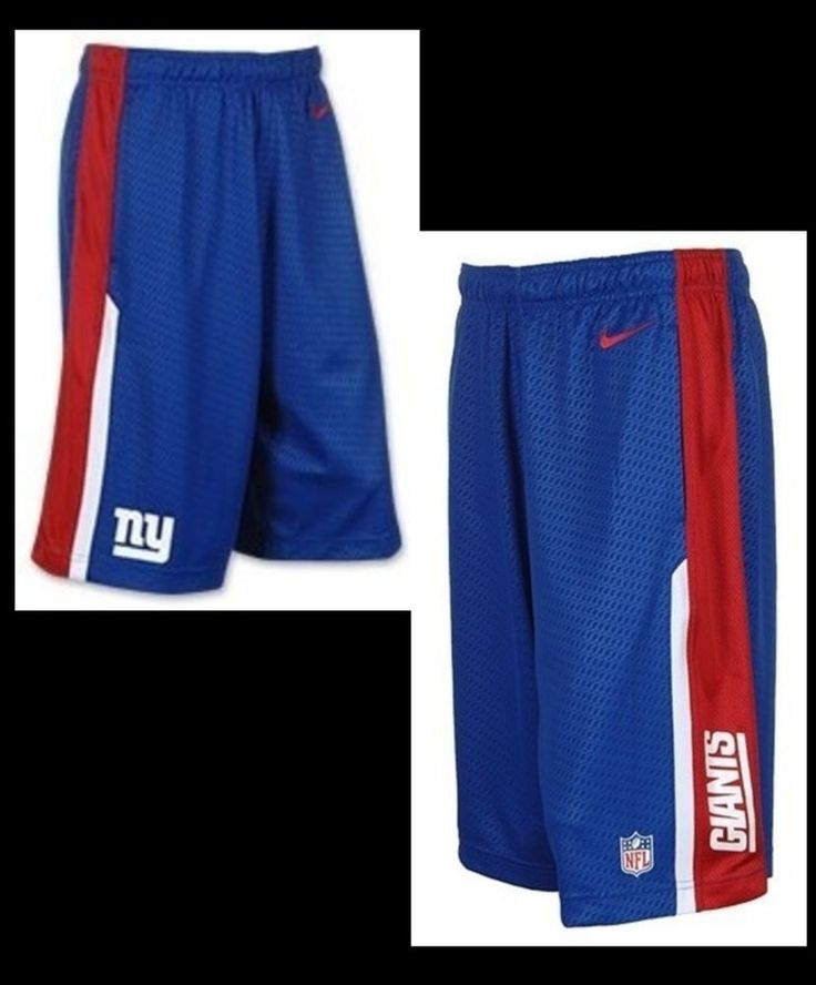 MEN'S NIKE ONFIELD DRI-FIT NEW YORK GIANTS FOOTBALL SPEED FLY SHORTS SM LG XL #Nike #ShirtsTops