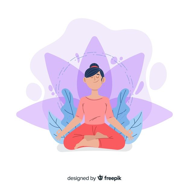 Download Meditation Concept Illustration For Free Circus Illustration Book Page Art Colorful Drawings