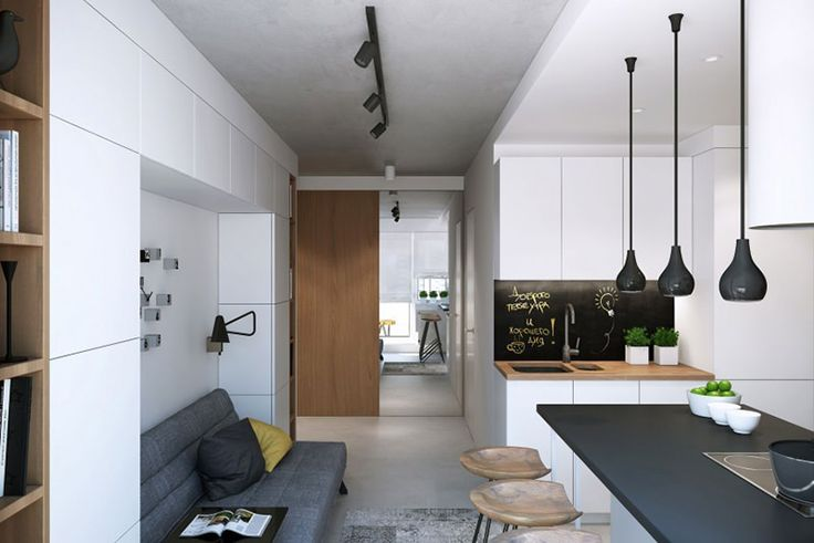 Projetada pela Geometrium, a Snigeri é uma residência que uniu a cozinha a sala de estar. Foto: Geometrium/Divulgação