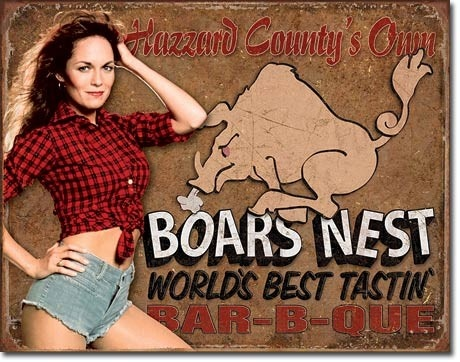 Dukes of Hazzard - Boar's Nest Tin Sign I bought this at the flea market in Evansville, IN