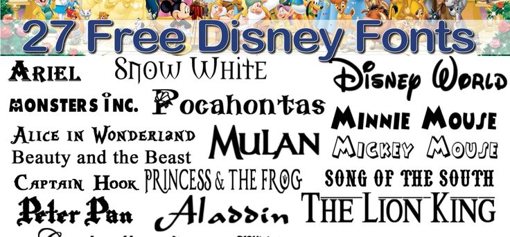 27 Free Fonts : Vol. 3 : Disney Fonts (plus Frozen extra)