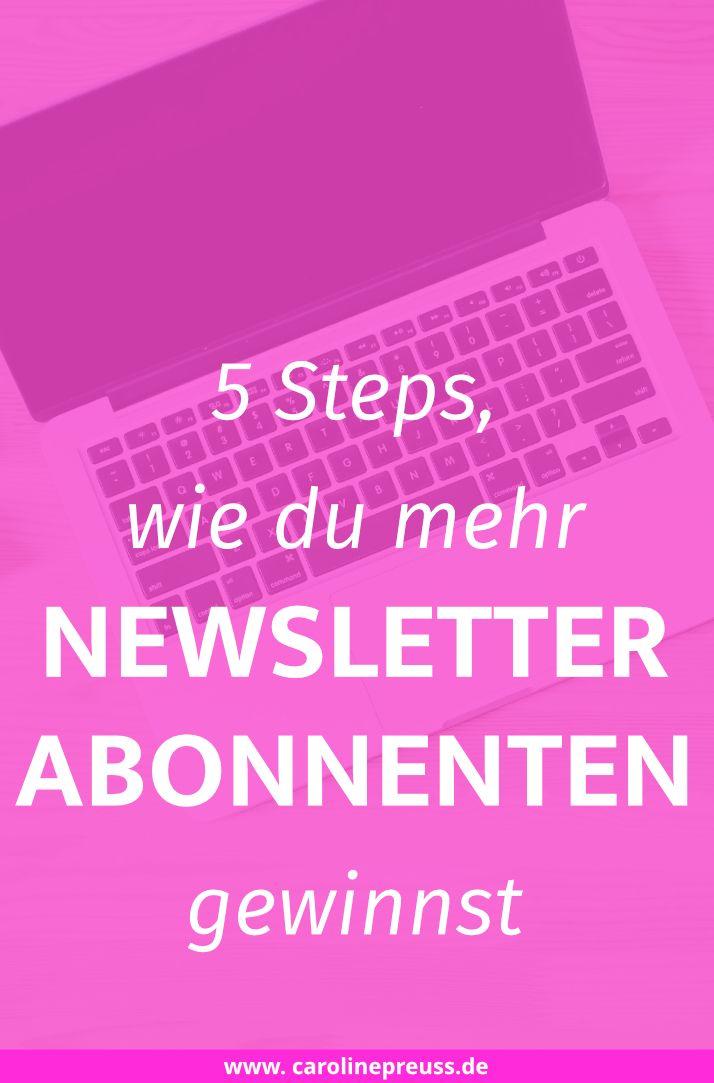 5 Marketing Strategien für Kleinunternehmen und Blogger, wie du mehr Newsletter Abonnenten gewinnst und erfolgreiches E-Mail Marketing betreibst.
