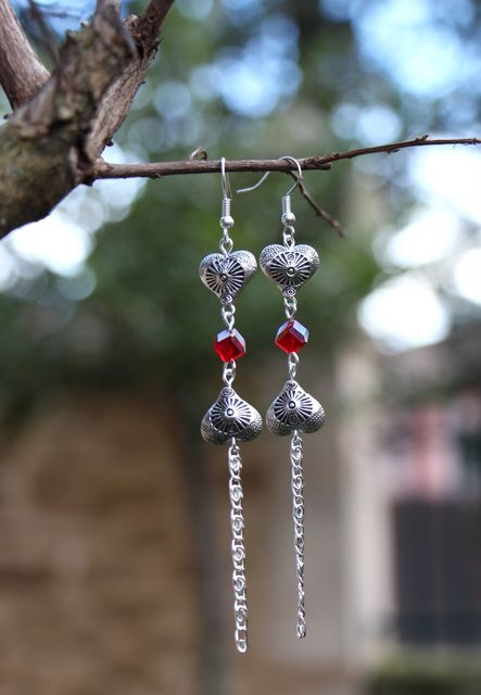 ilookia Boucles d'oreilles Love is in the air