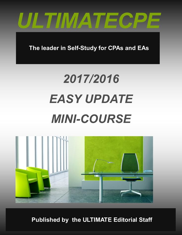 20172016 Easy Update MiniCourse Mini course, Study, Mini