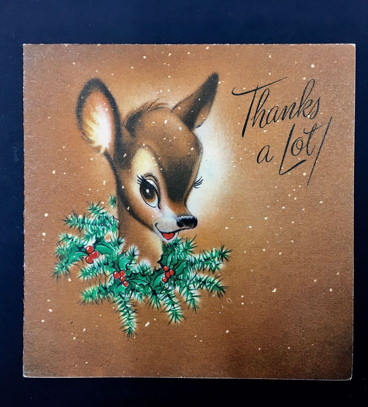 Vintage Christmas Card Hallmark Reindeer Fawn Portrait Holly Wreath FOR SALE • $38.00 • See Photos! Money Back Guarantee. Vintage Christmas Card Hallmark Reindeer Fawn Portrait Holly Wreath 222478732649