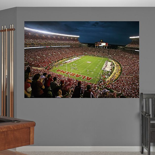 17 best images about man cave on pinterest alabama for Alabama football mural