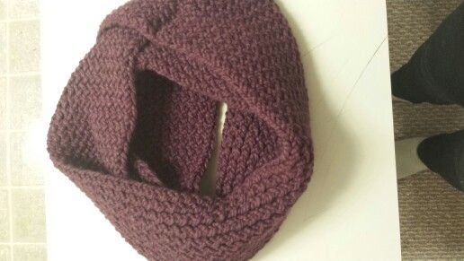 Infinity Scarf in Fig! Check out www.facebook.com/oopsie.daisy.scarves.cards for more infor