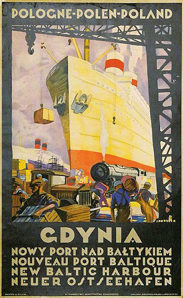 Wonderful Polish travel poster from 1925 by Stefan Norblin