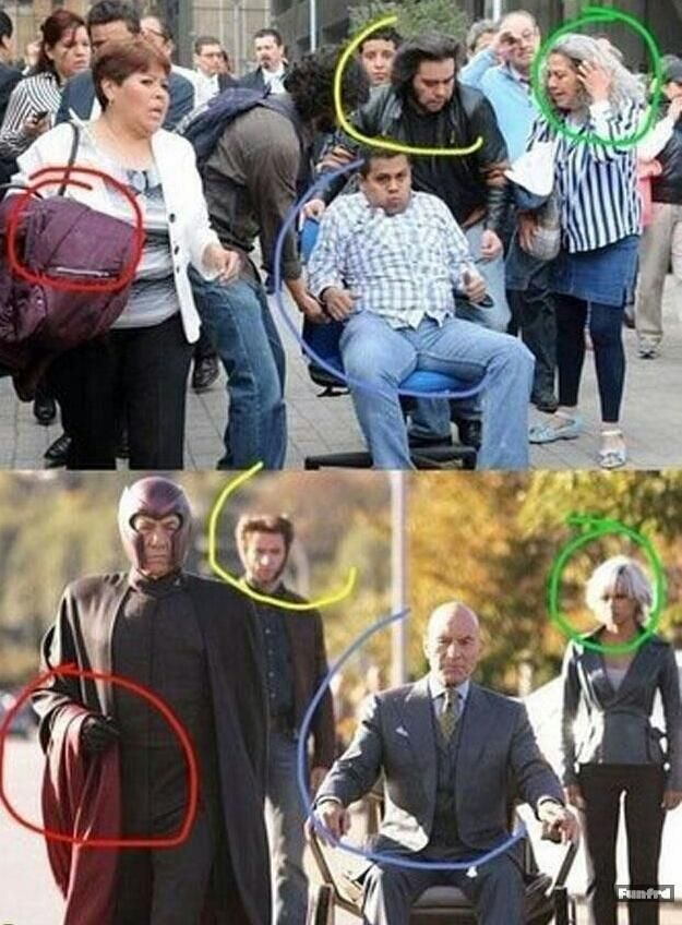 Xmen spotted on the street X特务被发现在人群中 - http://funfrd.com/xmen-spotted-on-the-street/