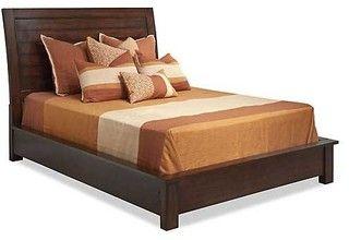 Panama Jack Eco Jack Platform Sleigh Bed - tropical - beds - by Carolina Rustica