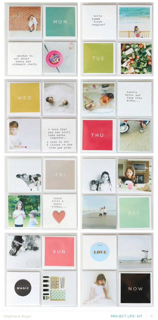love the simplicity of this project life layout
