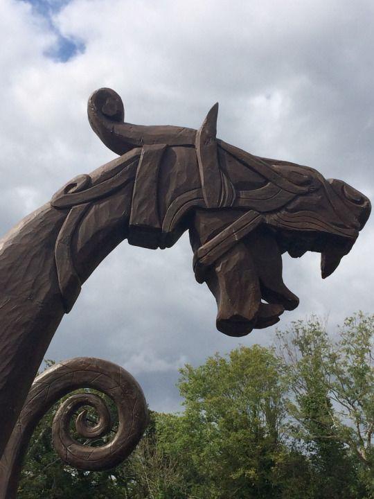 #norse #viking #ship #figurehead #dragon   the viking age ...