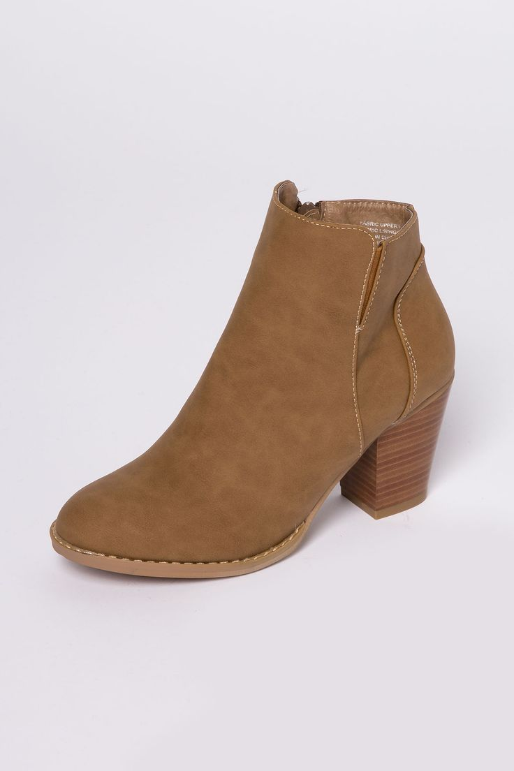 Girls Chunky Heel Ankle Bootie