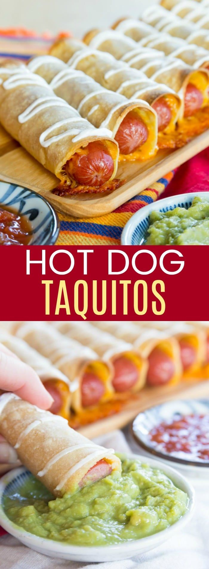 Cheesy Hot Dog Taquitos are a Mexican-inspired twist on the usual wrapped hot dogs, turning them into baked taquitos for an easy family-friendly dinner or fun game day snack.