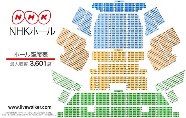 nhk 大阪 ホール 座席 表