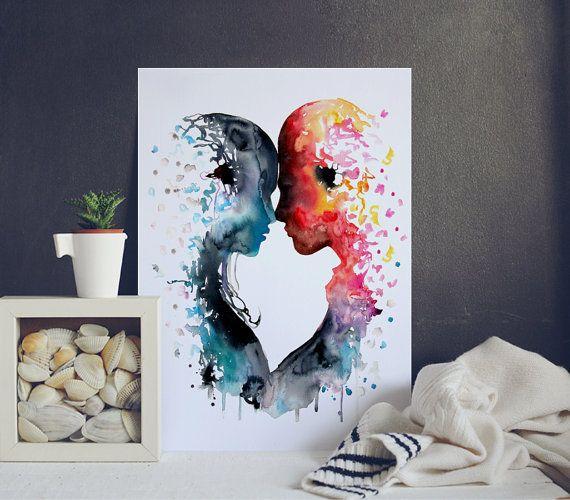 Love Me Tender Watercolor Art Print  Giclee Art by WatercolorMary