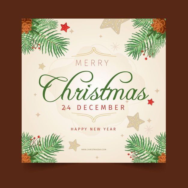 Merry Christmas Card Template Free Vector Freepik Freevector Christmas Card Template Christmas Card Templates Free Merry Christmas Card