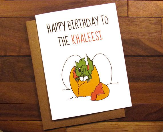 Funny Birthday Card  Game of Thrones Birthday by ThePaintedKitchen