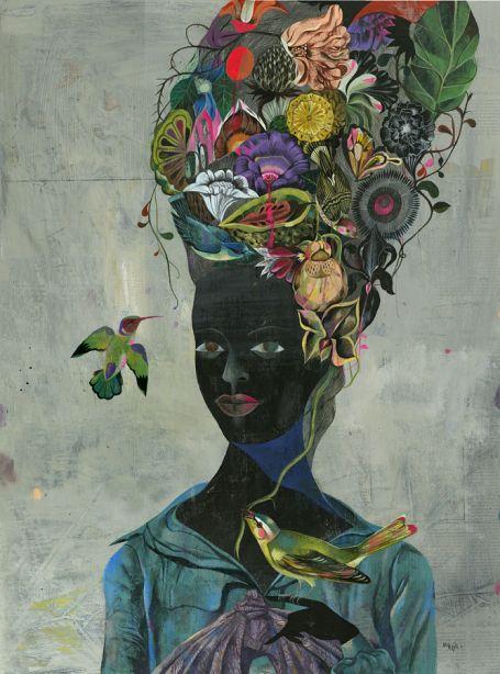 ART / OLAF HAJEK ILLUSTRATION: Artists, Berlin, Illustration, Olaf Hajek, Olafhajek, Art Flowers, Mary Antoinette, Black Antoinette, Birds
