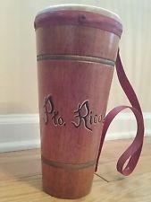 "Vintage Souvenir Bongo Drum Tom Tom Puerto Rico Pto. Rico 10.5"""