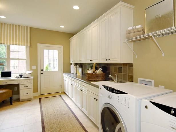 37 best images about laundry and utility room on pinterest for Utility room office